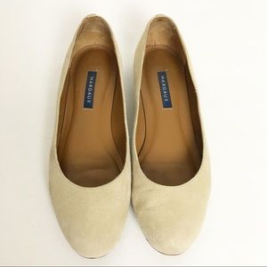 EUC Margaux The Classic Suede Flats In Flint